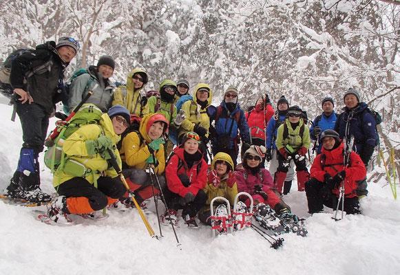 蛇谷ヶ峰のてっぺんには行けなかったけど、700m地点で記念撮影