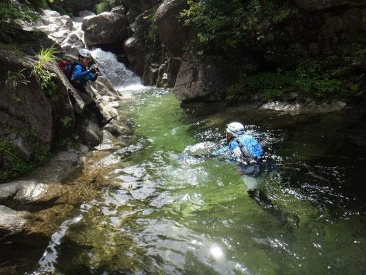 綺麗な水の赤坂谷