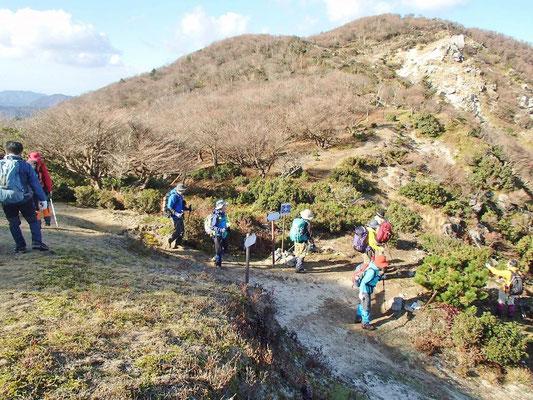 中峠から仙谷を下ります。その前に休憩