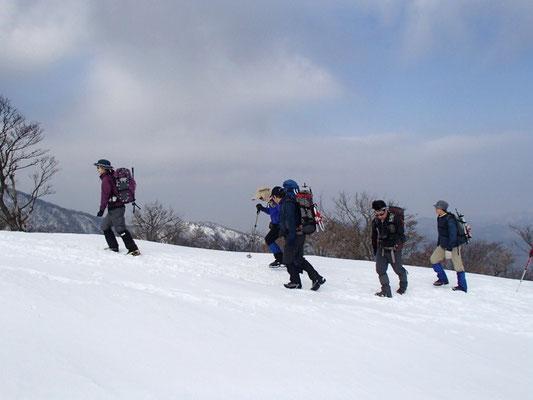 楽しい雪原歩き
