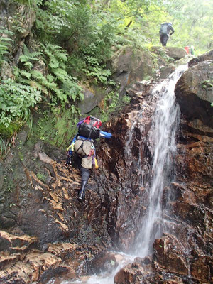 第2連瀑帯 2条5mを左から登る
