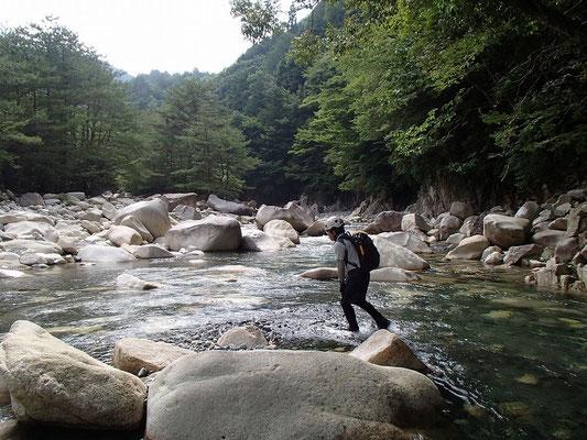 神崎川本流に戻ってきました