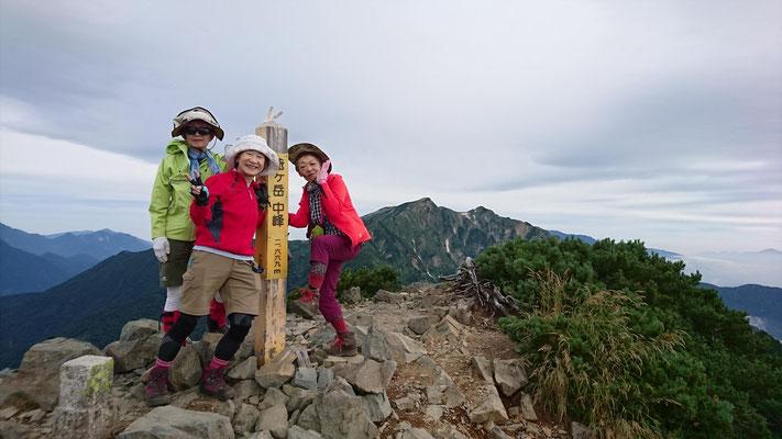 爺ケ岳中峰(2,669.9m)にて