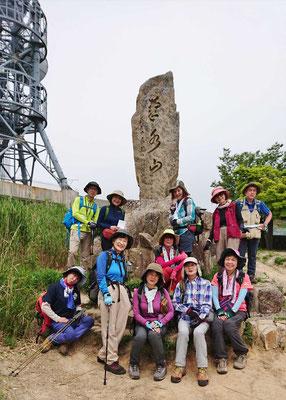 菊水山山頂にて