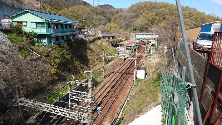 鵯越駅が見えました。今日の終着点です