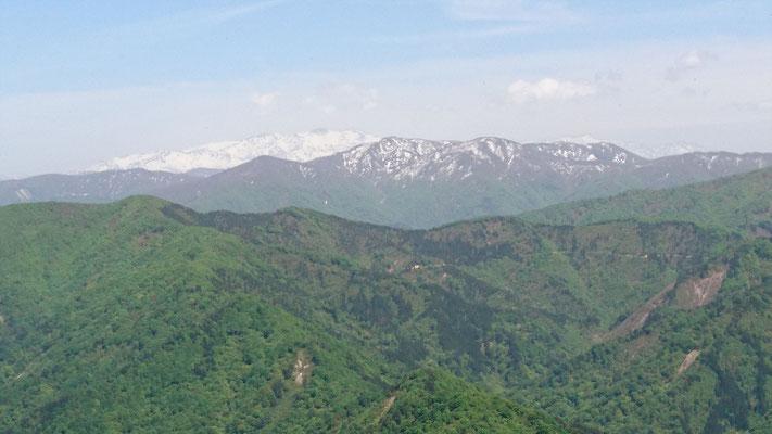 不惑新道稜線から白山
