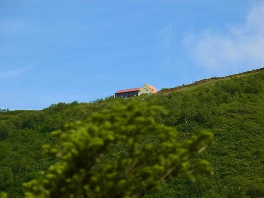 小雨です でも種池山荘が見える頃、晴れてきた~。\(^o^)/
