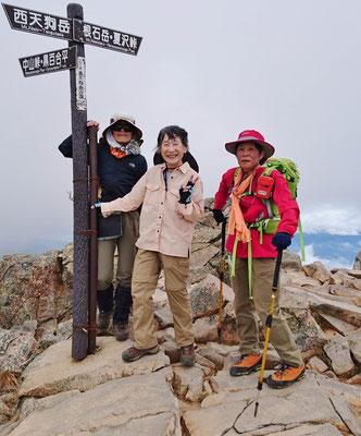 東天狗岳(2640m)にて