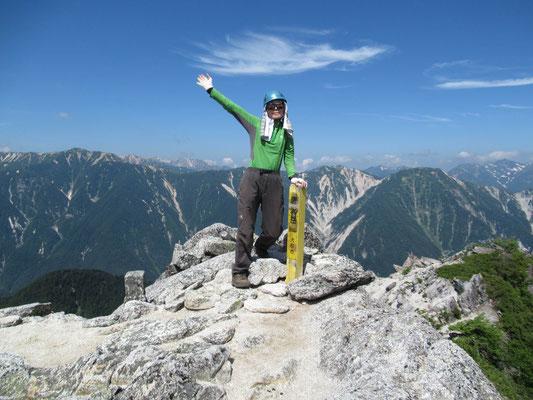 ようやく唐沢岳(1,632.4m) M内さん