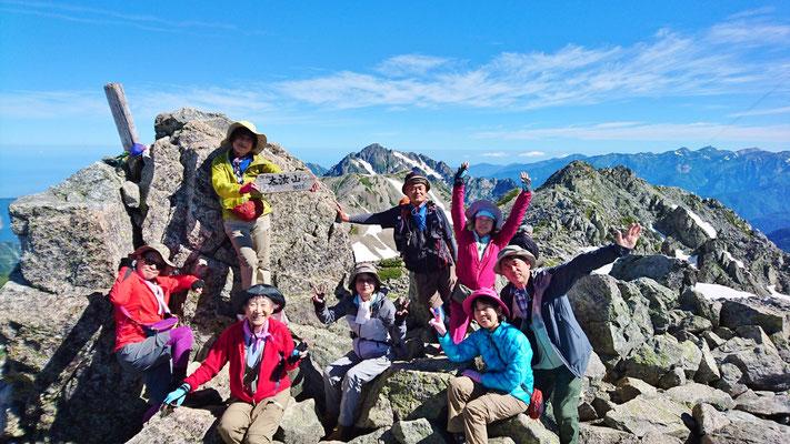 大汝山(立山連峰最高峰3,015m)にて