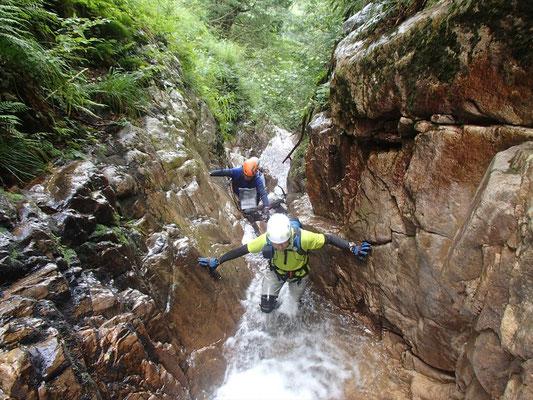 トイ状多段斜滝10m