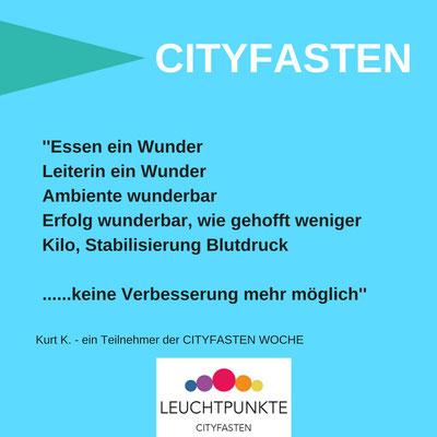 Das sagen TeilnehmerInnen der CITYFASTEN WOCHE