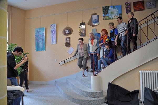 Les artistes de la Galerie nomade exposant à la NR.