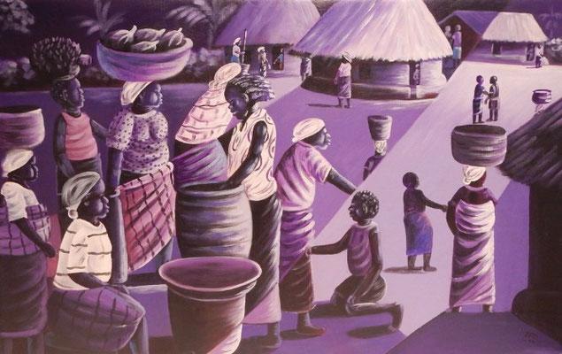 Purple Feast, 60 x 105, 400€