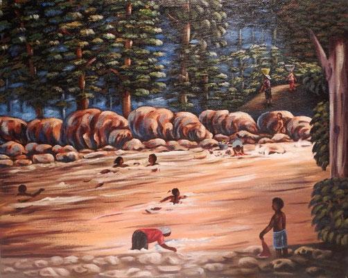 Creek  Washing, 55 x 70, 250€