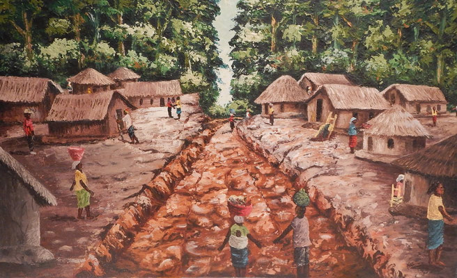 """Lofa Road Village"" von Fato Wheremongar"