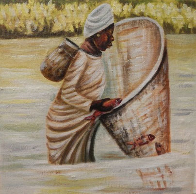 Mangrove Fishing, 30 x 30, 150€