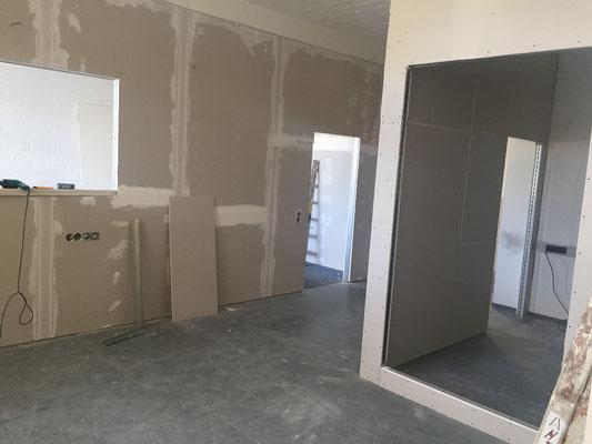 Hier bekommt man einen ersten Eindruck von der neuen Raumaufteilung.