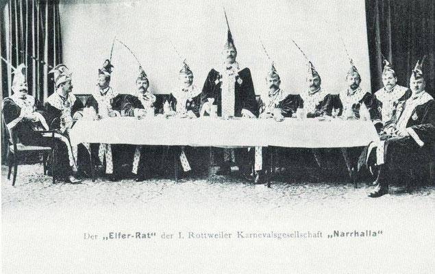 von links nach rechts: Bankier Adler, Otto Wolf, Franz Rapp, Pius Kammerel, Simon Wälder, Karl Meyer, Eugen Oechsner, Joseph Stöhr, Wilhelm Meier, Fritz Stehle, German Sichler