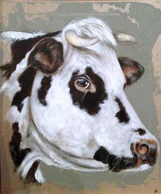 Artiste animalier les animaux de la ferme odilelaresche - Vache normande dessin ...