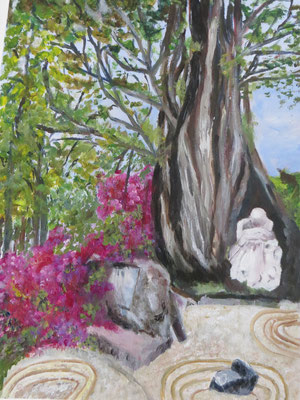 MEDITATION dans un jardin zen