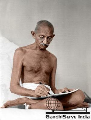 46 - Mahatma Gandhi (Ghandi) - Copyright: GandhiServe India - www.gandhiserveindia.org