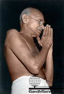 77 - Mahatma Gandhi (Ghandi) - Copyright: GandhiServe India - www.gandhiserveindia.org