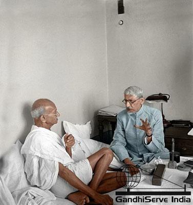 63 - Mahatma Gandhi (Ghandi) - Copyright: GandhiServe India - www.gandhiserveindia.org