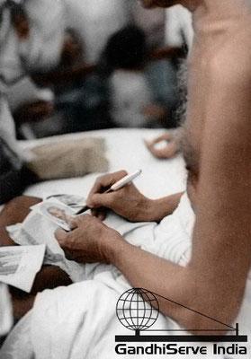 58 - Mahatma Gandhi (Ghandi) - Copyright: GandhiServe India - www.gandhiserveindia.org