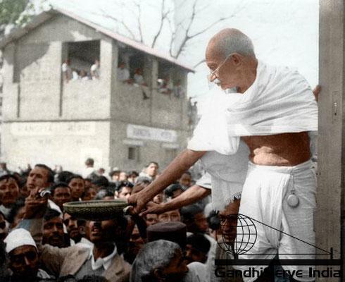 71 - Mahatma Gandhi (Ghandi) - Copyright: GandhiServe India - www.gandhiserveindia.org