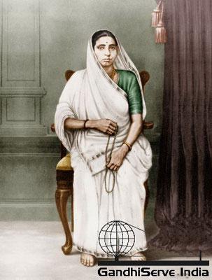 Mahatma Gandhi's mother, Putlibai - Copyright: GandhiServe India - www.gandhiserveindia.org - Ghandi