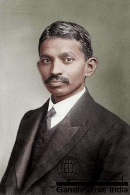 4 - Mahatma Gandhi (Ghandi) - Copyright: GandhiServe India - www.gandhiserveindia.org