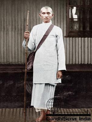 9 - Mahatma Gandhi (Ghandi) - Copyright: GandhiServe India - www.gandhiserveindia.org