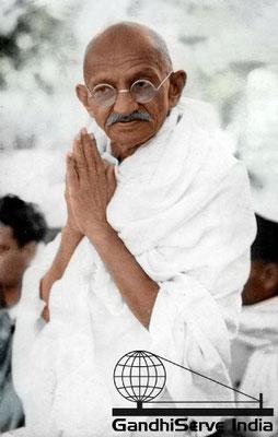 34 - Mahatma Gandhi (Ghandi) - Copyright: GandhiServe India - www.gandhiserveindia.org