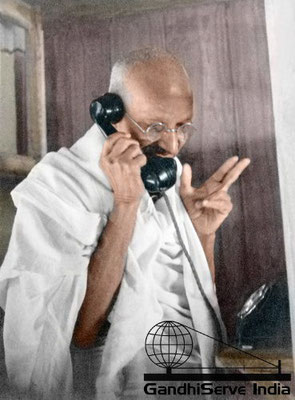 43 - Mahatma Gandhi (Ghandi) - Copyright: GandhiServe India - www.gandhiserveindia.org