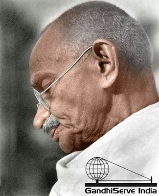 54 - Mahatma Gandhi (Ghandi) - Copyright: GandhiServe India - www.gandhiserveindia.org