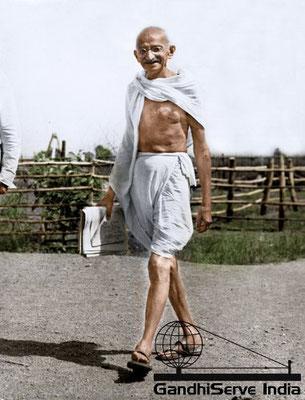 67 - Mahatma Gandhi (Ghandi) - Copyright: GandhiServe India - www.gandhiserveindia.org