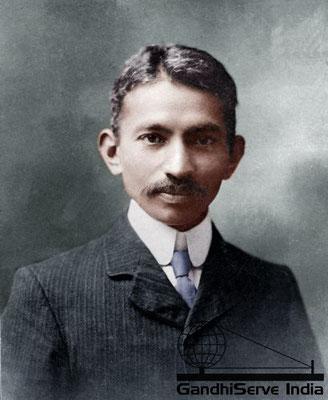 6 - Mahatma Gandhi (Ghandi) - Copyright: GandhiServe India - www.gandhiserveindia.org