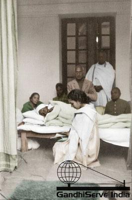 97 - Mahatma Gandhi (Ghandi) - Copyright: GandhiServe India - www.gandhiserveindia.org