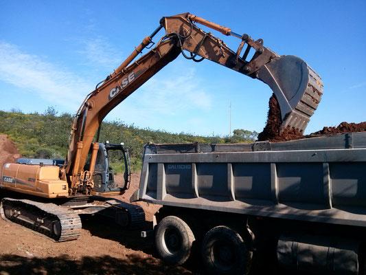 Abtransport des Bodens in unser Depot
