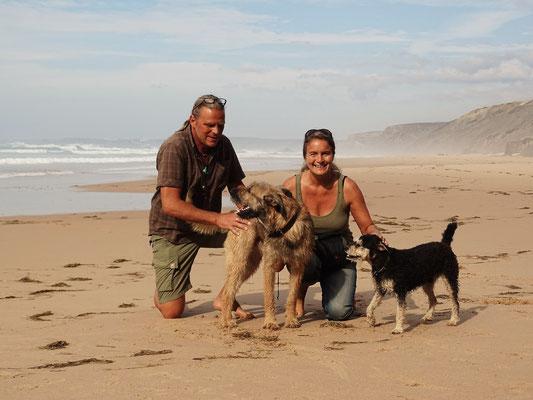 """am Traumstrand von Bordeira an der Westatlantikküste des Algarve, die sogenannte """"Costa Vicentina"""", ein ausgewiesenes Naturschutzgebiet"""