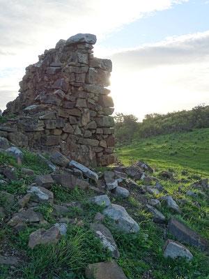 Sonnenaufgang bei der Ruine