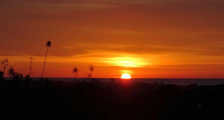 immer wieder magisch ... die Sonnenaufgänge über Monte Gordo im Valongo
