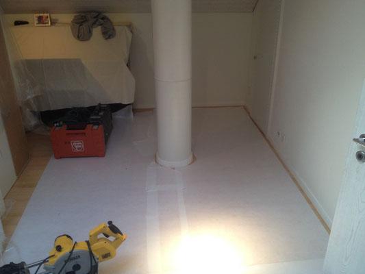 Dachzimmer-Umbau mit Zunahme des Schlupf's VORHER