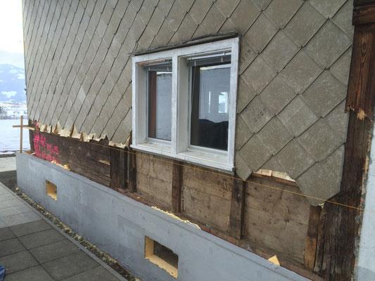 Fassade und Isolierung VORHER