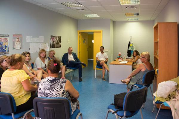 Reunión em Patrocinio con Delegado de la Junta en Talavera y Directora Provincial del Instituto de la Mujer