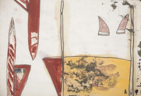 arena, 1998, 22,5 x 33cm, ölfarbe,bleistift/papier