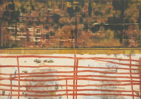 trennungslinie, 2000, 21 x 29,5cm, ölfarbe, bleistift/papier