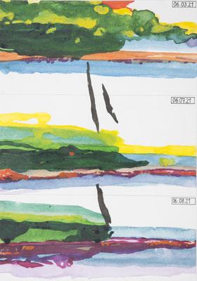 tagebuchnotizen, 2009, 24,7 x 17,5cm, aquarellfarbe, bleistift/papier