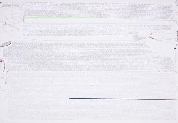 as p. did it..., 2002, 70 x 100cm, bleistift, farbstifte/papier